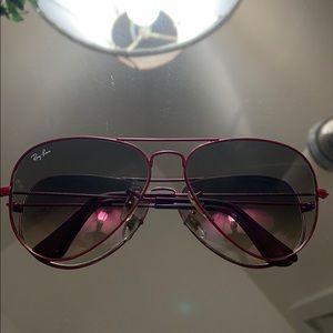 Ray-Ban Aviator Metal Pink Sunglasses RB 3025